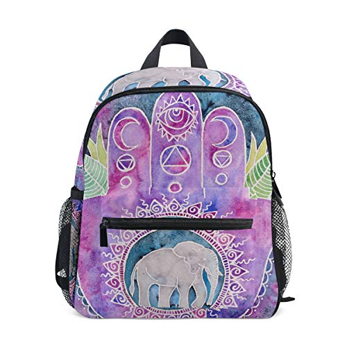 Creative Hand Print Elephant Cute Children's Backpacks Toddler Bags for School Book -