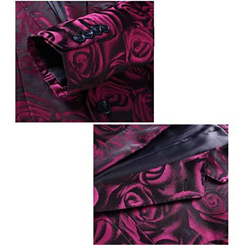 Slim Rouge Gentleman Costume Pour Hommes British 3 Mariage Pièces Zpfxed fanPx7q7