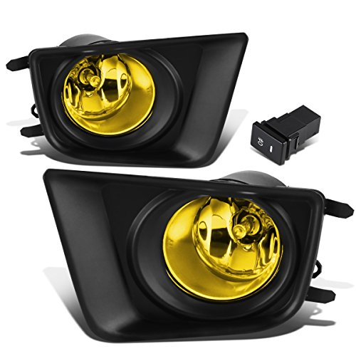 For Tacoma Pair of Driving Bumper Fog Lights + Wiring + Switch (Amber Lens)