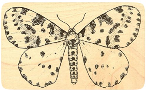 Moth Rubber Stamp