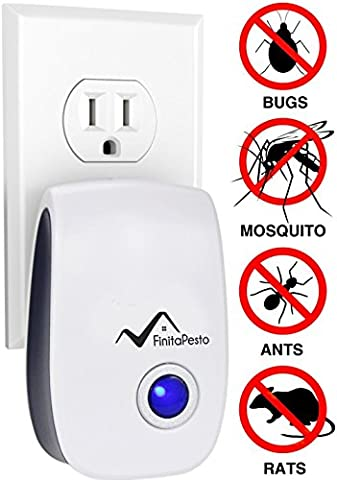 Ultrasonic Pest Repeller - 100% SAFE for Pets - Get Rid Of Pests In 7 Days Or It's FREE (Ultrasonic Electric Repellent)