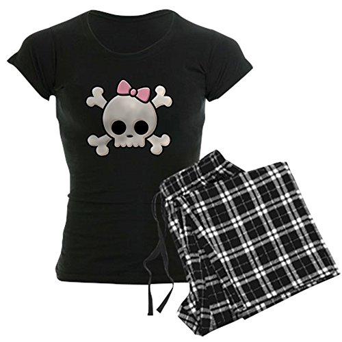 Halloween Graphic Sleep Sets For Baby (CafePress - Cute Skull Girl Women's Dark Pajamas - Womens Novelty Cotton Pajama Set, Comfortable PJ Sleepwear)