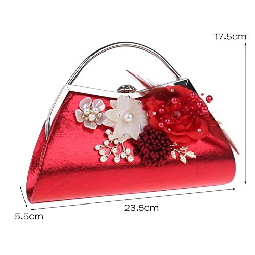 clutch Gold decoration bag Ladies diagonal fashion SHISHANG handbag flower shoulder ZYXCC nRxwvqT8O