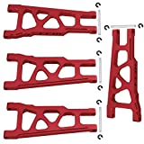 Hobbypark Front / Rear Aluminum Suspension Arms (L/R) Red for 1/10 Traxxas Slash 4x4 Upgrade Parts