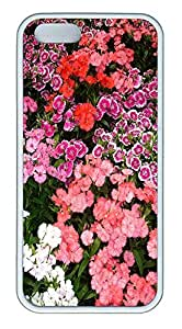 iPhone 5 5S Case Nature Carnations 3 TPU Custom iPhone 5 5S Case Cover White