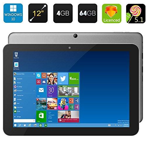 Chuwi Hi12 Windows 10 Tablet-PC WiFi 12 Zoll 2160 * 1440 Display 64Bit Quad Core 4GB RAM 64GB ROM Intel Z8300 HDMI 5.0MP Tablet 11000mAh Bluetooth 4.0