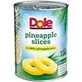 Dole Pineapple Slices in 100% Pineapple Juice 20 oz. (Pack of 3)