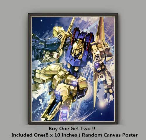 QG Art Shining Golden Hyaku Shiki Mobile Suit Robot Japanese Anime Wallpaper Art Prints Poster,Not Included Frame from QG Art