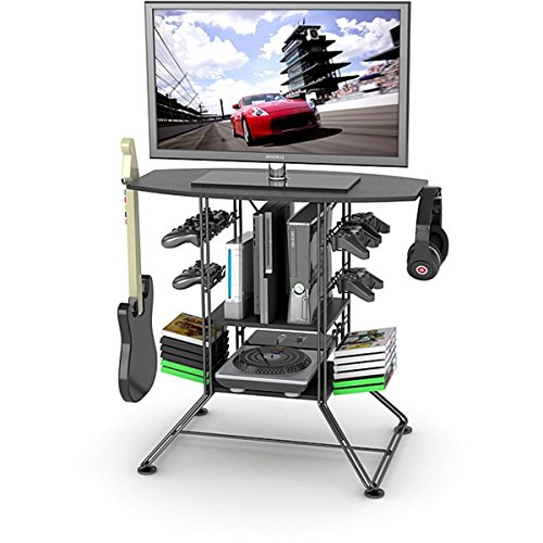 (This Home Entertainment Center Is Set up to Be the Perfect TV and Gaming Station Stand with Plenty of Room for Your Game System)