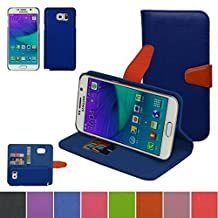 Samsung Galaxy NOTE 5 Case,Mama Mouth [DETACHABLE Feature] Folio Flip Hard Case [Stand View] Premium PU Leather [Wallet Case] With Built-in Media Stand ID Credit Card / Cash Slots and Inner Pocket Cover For Samsung Galaxy NOTE 5, Blue