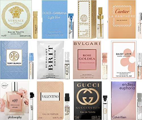 Designer Fragrance Samples Pour Femme - Sampler Lot x 12 Perfume Vials For Her (1.0) (Designer Perfumes For Women)