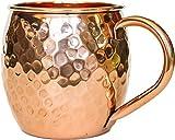 PureCopper Moscow Mule Mug - 100% Copper, 16oz Hammered Barrel - BONUS Recipe Cards! by PureCopper