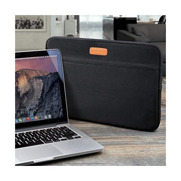 Inateck LC1400B, Borsa custodia sleeve morbida per laptop 14-14.1 pollici, compatibile con MacBook Pro 15 pollici nuovo… 5 spesavip