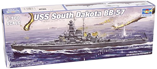 (Trumpeter 1/700 USS South Dakota BB57 Battleship 1945 Model Kit)