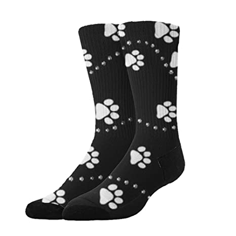 7176a1ace801 Amazon.com  Jinkela Unisex 3D Socks Dog Paw Print Style Black Adult ...