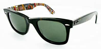 e752de1c02a Image Unavailable. Image not available for. Colour  Ray Ban RB2140 Wayfarer  Sunglasses-1122 Havana Text Guitar ...