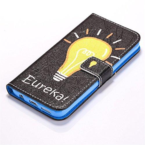 A9H Estilo Libro Funda Samsung Galaxy S7 Carcasa Cuero Tapa Case Cover Universales Cierre Magnético Carcasa Cuero Pu Tapa Bookstyle Cartera Case con Función de Soporte -13HUA 3HUA