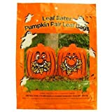 Leaf Eater Pumpkin Halloween Leaf Bags, Pair