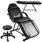 Massage Bed Chair Spa Salon Tattoo Black Adjustable Beauty Table Stool Equipment New