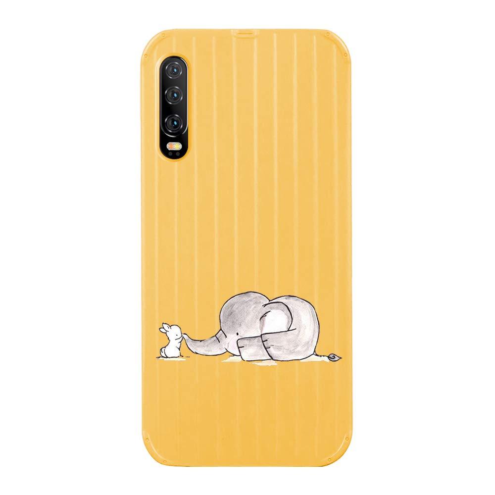 Elefant,Gr/ün Alsoar H/ülle kompatibel mit Huawei P20 Pro Weiche Schutzh/ülle,Huawei P20 Pro Handyh/üllenset,Muster TPU Bumper mit Hart Tasche H/ülle,Durchsichtig Transparent Sto/ßfest Design