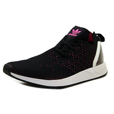 f14ee7c4fcb66 adidas ZX Flux ADV Asymmetrical Primeknit Black Pink