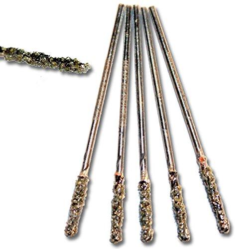 5pcs Set of Metric 1 mm diameter GRIT 60 Diamond Coated HSS Twist Drills Bits For STONE