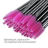 PIXNOR 200 Pack Disposable Makeup Brush Eyelash Brush Mascara Wands Eye Lash Brushes Set- Lipstick Brushes Applicator Makeup Kits-Multicolor