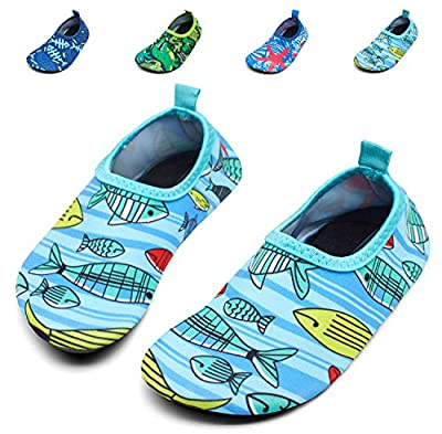Giotto Kids Swim Water Shoes Quick Dry Non-Slip for Boys & Girls, G015F-Yellow, 32-33