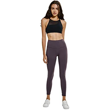 5484be3a4d TERODACO High-Waist Yoga Pants Tummy Control Workout Running Leggings with  Hidden Pocket