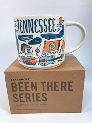Starbucks Tennessee Coffee Mug Been There Series Across the Globe (Tennessee Coffee Mug)