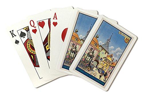 Rosheim - Chemins de Fer d'Alsace et de Lorraine Vintage Poster (artist: Hansi) France c. 1930 (Playing Card Deck - 52 Card Poker Size with Jokers)