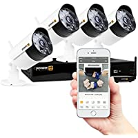 Defender Wireless HD 1080p 4 CH 1TB Security Kit with 4 Cameras - White - WHD1T4B4