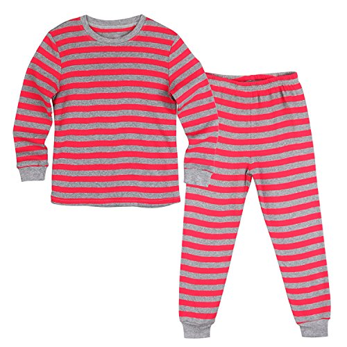 mamabibi-boys-girls-pajama-2-pieces-100-cotton-for-toddler-little-boys-girls-fired-striped-lovely-ch