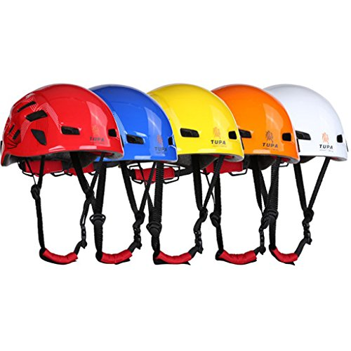 Generic Safety Helmet Head Protection Hard Hat for Rock Climbing Tree Arborist Abseiling Construction Aerial Work Rappelling Rescue Equipment Choice of Color