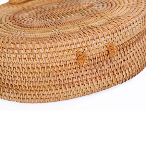 Women's Bag, Rattan Bag - Single Side - Sun Flower - Oval - Crossbody - Beach Bag Floral Lining - Hand-Woven Bag by BHM (Image #7)