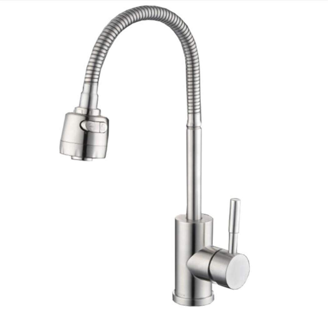 Taps Mixer Swivel Faucet Sink 304 Stainless Steel Kitchen Sink Cold and Hot Universal Faucet