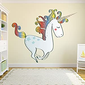 Rainbow Unicorn Wall Sticker Fairytale Wall Decal Girls Bedroom Home Decor  Available In 8 Sizes X Large Digital Part 47