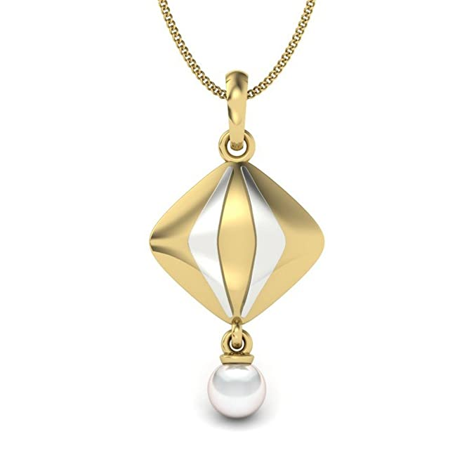 Perrian 18KT Yellow Gold and Pearl Pendant for Girls Pendants