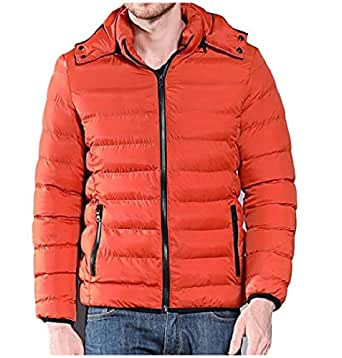 Abetteric Mens Winter Warm Waterproof Zip-up Outwear Hood