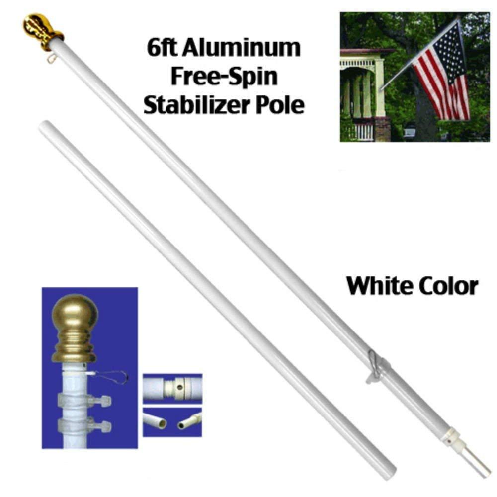 6 pies de mástil para bandera de aluminio estabilizador de ...