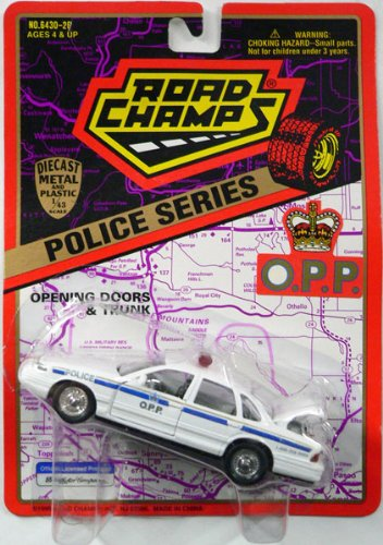 Road Champs 1:43 Police Series O.P.P. Police Car Die Cast Collectible Car MOC