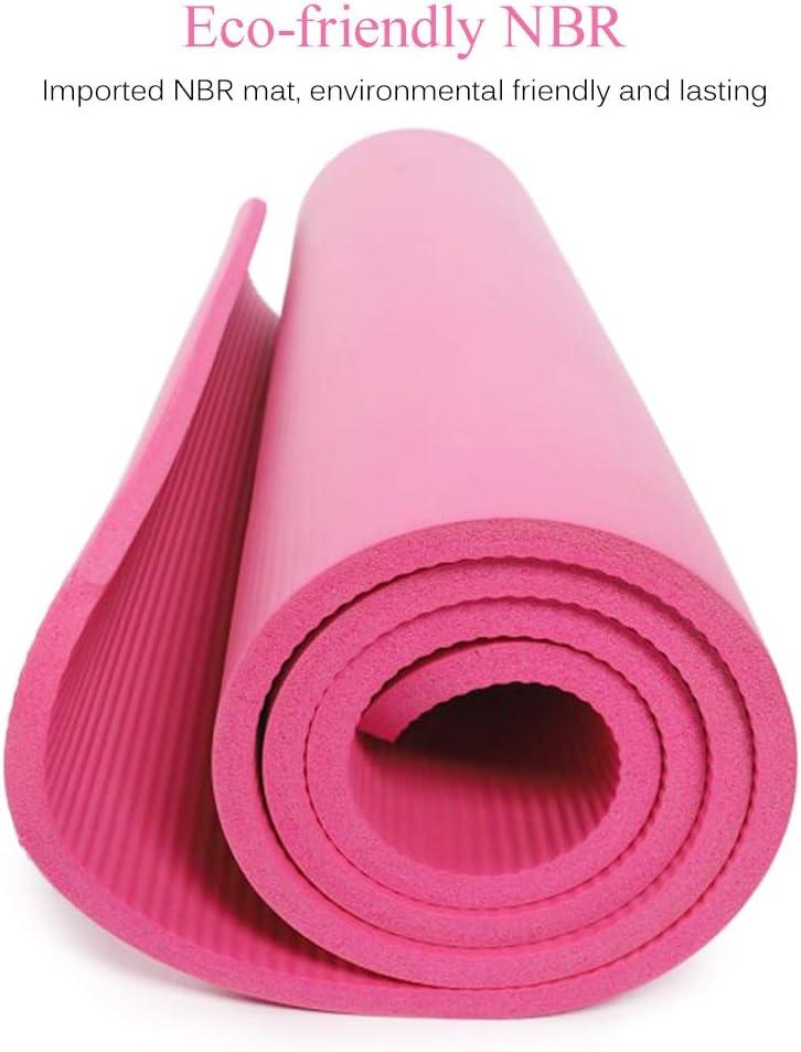 Lixada Tapis de Yoga Antid/érapant 72x24IN Fitness Ecologique Tapis de Gymnastique Pilates Sac de Rangement et Sac de Transport