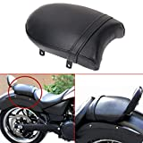 Black Leather Rear Passenger Pillion Pad Seat For 4 Victory High-Ball Vegas Kingpin