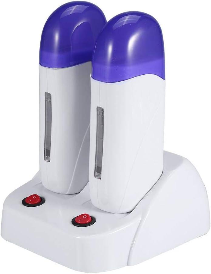 Rodillo de cera de cartucho, 3 tipos Cartucho eléctrico portátil Cera Rodillo depilatorio Calentador Calentador Depilación corporal Máquina de depilación para depilación(3#)