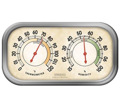 Termómetro y medidor de humedad de pista de Color de Springfield