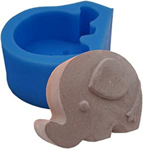 Cute Elephant Silicone Soap Mold Candle Scented Wax Gypsum Mould Food Grade Choclate Cake Jelly Silicone Molds Decorating Crafts Mold