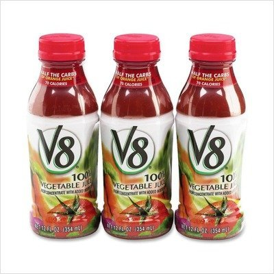 V8 Vegetable Juice, 12 oz. plastic bottle (12 pack)