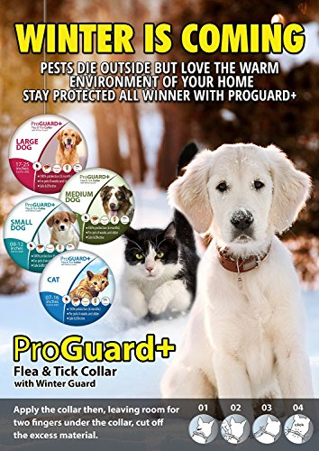 Flea-Tick-Collar-LARGE-DOG-ProGuard-Plus-II-safe-pet-protection-from-pest-bites-infestations-larvae-lice-mosquitoes