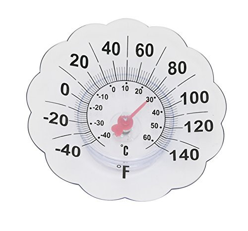 Home-X Oversize Outdoor Window Thermometer | 7 Inch Diameter