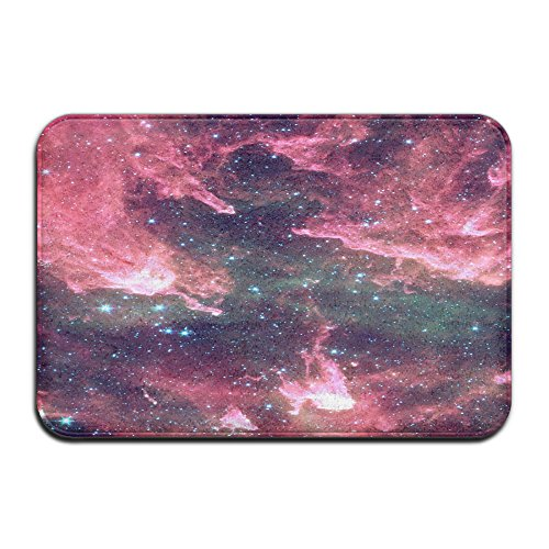 PINK Galaxy Rectangular Doormat Personalized NonSlip Thin Diameter 40 X 60cm/15.7 X 23.6